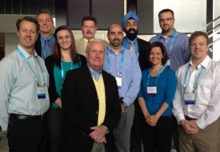 "From left front: Co-chairs Jon Davies and Dr. Neil MacIntyre (both of Duke University), and Amanda Dexter (IngMar Medical) with other faculty at recent CHEST course on ""Mechanical Ventilation: Advanced Critical Care Management"""