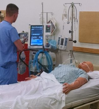 ASL 5000 Breathing Simulator used in study of effectiveness of mechanical ventilation bootcamp.
